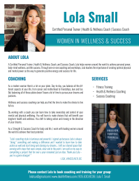 Infosheet for Lola Life & Fitness by Kate Slean [kateslean.com]