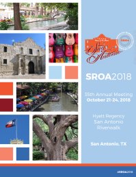Marketing Brochure Template for the 2018 SROA Conference by Kate Slean [kateslean.com]